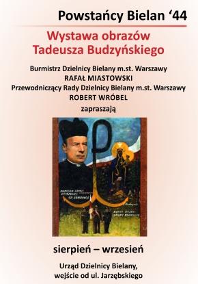 Urząd Dzielnicy Bielany  wystawa prac Tadeusza Budzyńskiego