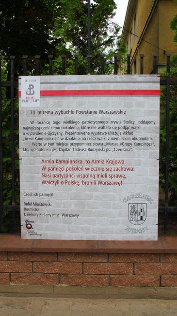 Niepodległa Rzeczpospolita Kampinoska - wystawa na Bielanach